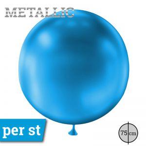 Reuze Ballon Metallic Blauw 75 cm