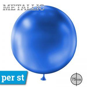Reuze Ballon Metallic Donker Blauw 75 cm
