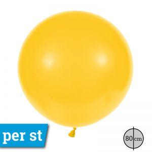 Reuze Ballon 80 cm Donker Geel