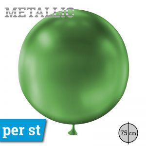 Reuze Ballon Metallic Groen 75 cm