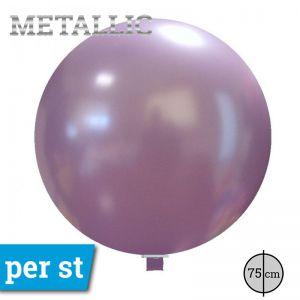 Reuze Ballon Metallic Lavendel 75 cm