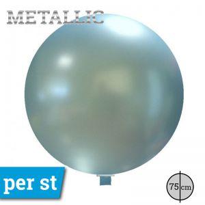 Reuze Ballon Metallic Licht Blauw 75 cm