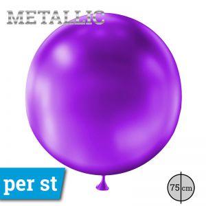 Reuze Ballon Metallic Paars 75 cm
