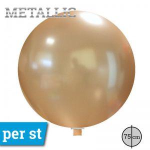 Reuze Ballon Metallic Perzik 75 cm