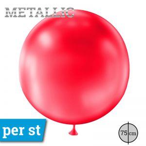 Reuze Ballon Metallic Rood 75 cm
