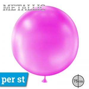 Reuze Ballon Metallic Roze 75 cm