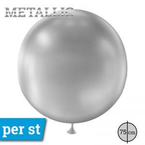 Reuze Ballon Metallic Zilver 75 cm