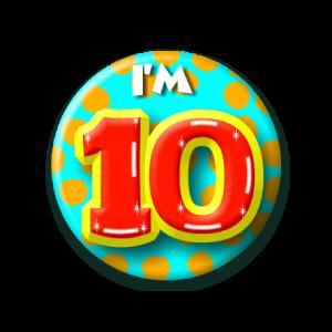 Button klein 10 jaar