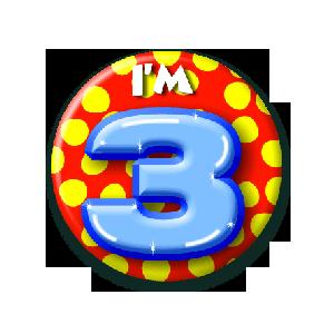 Button klein 3 jaar
