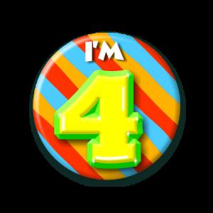 Button klein 4 jaar