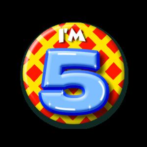 Button klein 5 jaar