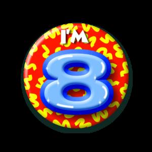 Button klein 8 jaar