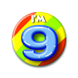 Button klein 9 jaar