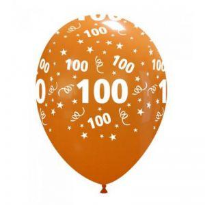 10 Ballonnen met opdruk cijfer 100