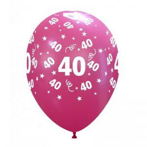 10 Ballonnen met opdruk cijfer 40