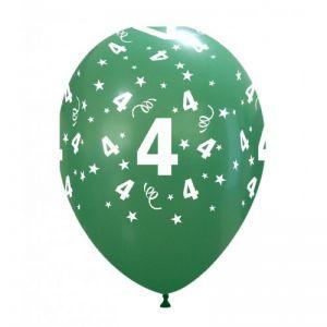 10 Ballonnen met opdruk cijfer 4