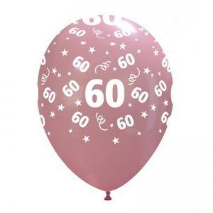 10 Ballonnen met opdruk cijfer 60