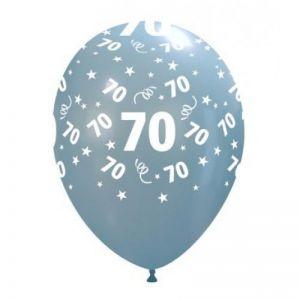10 Ballonnen met opdruk cijfer 70