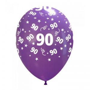 10 Ballonnen met opdruk cijfer 90