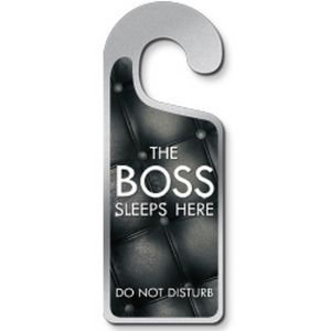 Deurhanger The Boss Sleeps Here