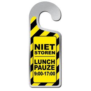 Deurhanger Niet Storen Lunch Pauze