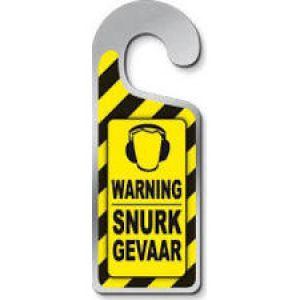 Deurhanger Warning Snurk Gevaar