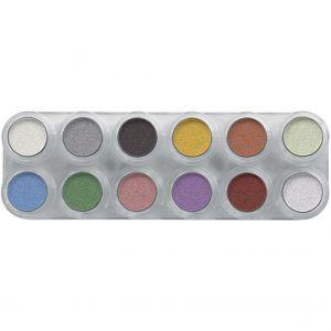 Grimas Eyeshadow Rouge Pearl 12 Palette P1