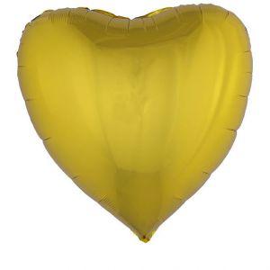 Folieballon Goud Hart 80 x 75 cm