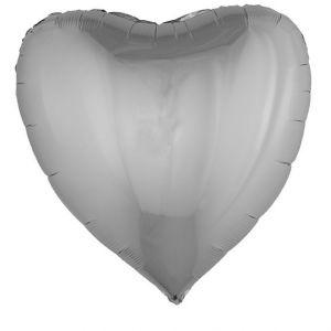 84717 Folieballon Zilver Hart 80 x 75 cm