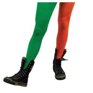 Panty oranje/groen volwassenen