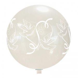 Reuze Ballon Bruiloft Duiven 80 cm
