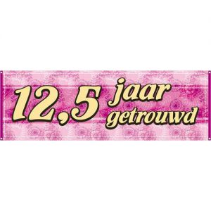 Banner 12,5 Jaar Getrouwd
