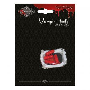 Vampieren gebit met bloed capsules