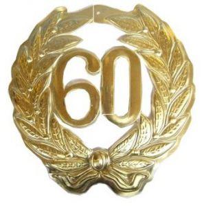 Huldebord 60 Jaar (45 cm.)
