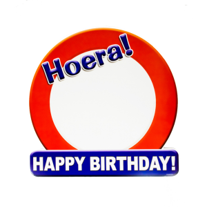 Bord Happy Birthday ( 50 x 50 cm )