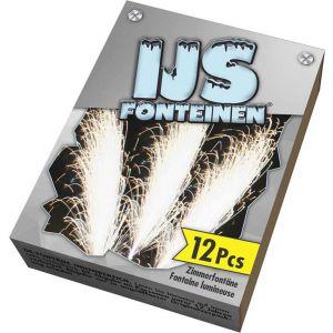 Ijsfontein Zilver 12 stuks 10 cm