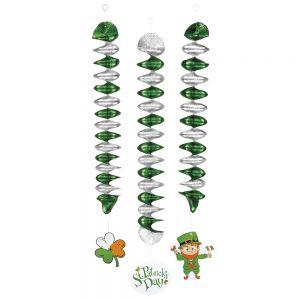 Decoratie spiralen St. Patricks Day
