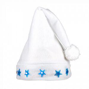 Kerstmuts Wit met sterren en licht