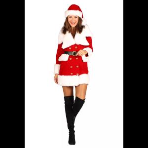Kerstvrouw fluweel NIeve