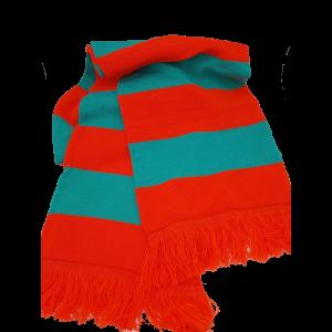 Kruikenstad gebreide sjaal Groen / Oranje XXL