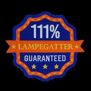 Strijkapplicatie Rugembleem Lampegat 111% Lampegatter