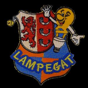 Strijkapplicatie Lampegat Lampje