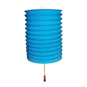 Lampion Blauw met kaarsenhouder