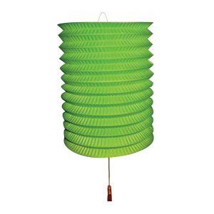 Lampion Groen met kaarsenhouder
