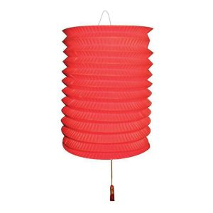 Lampion Rood met kaarsenhouder