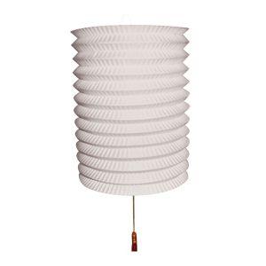 Lampion Wit met kaarsenhouder