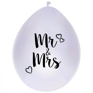 Latex ballonnen Mr & Mrs