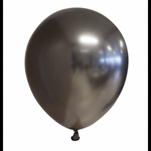 Latex ballonnen Chrome Zwart