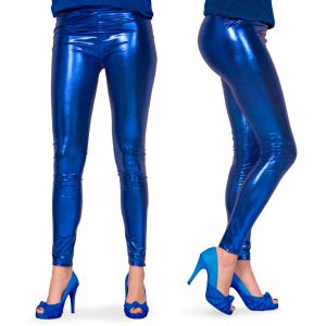 Legging Metallic Tuqoise (Licht Blauw)