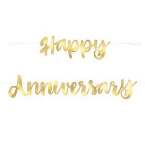 LettersliLetterslinger Happy Anniversary Goud